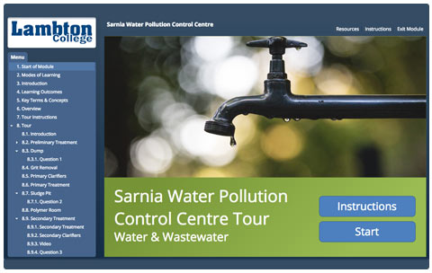 Sarnia Water Pollution Control Centre Tour Title Page