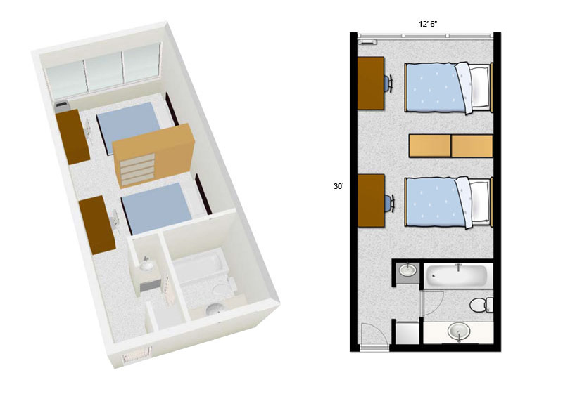 Residence rooms lambton college Room layout