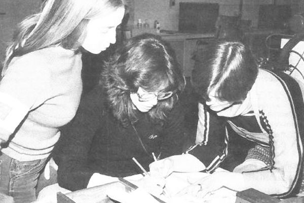 Art Fundamentals Drawing class from Academic Year 1982-1983