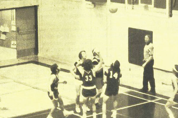 Basketball Game in Gym from Academic Year 1974-1975