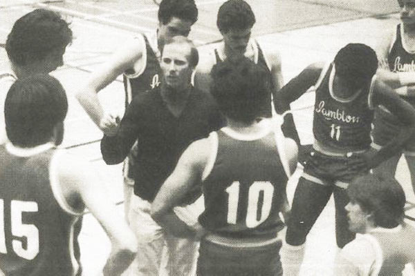Basketball Team from Academic Year 1985-1986