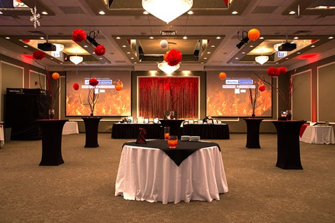 Ballroom Setup Corks Caps and Cuisine